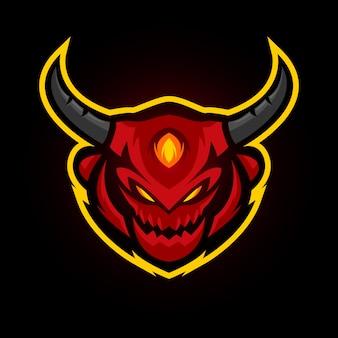 Красный злой талисман игровой команды
