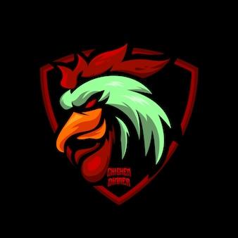Петух и спорт логотип