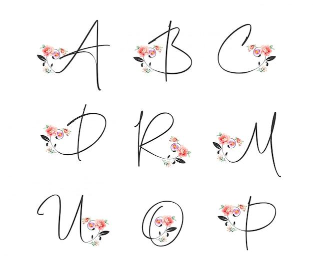 アルファベットの花