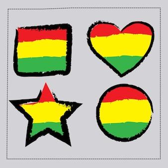 ジャマイカの旗を飾る