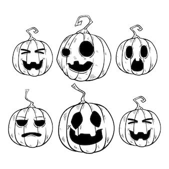 Симпатичная коллекция хэллоуина тыквы
