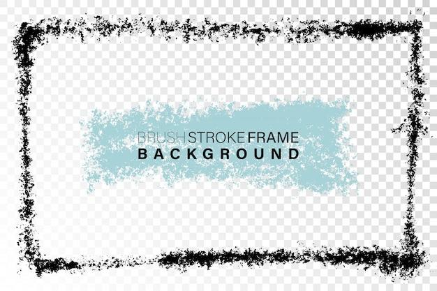 Ручной обращается гранж кадр прямоугольной формы.