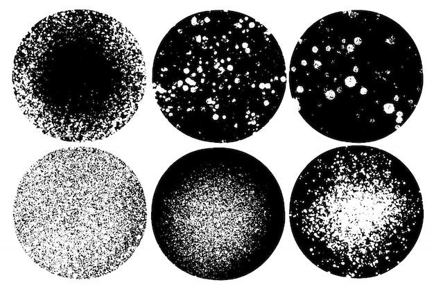 Векторный набор ручной росписью кругов