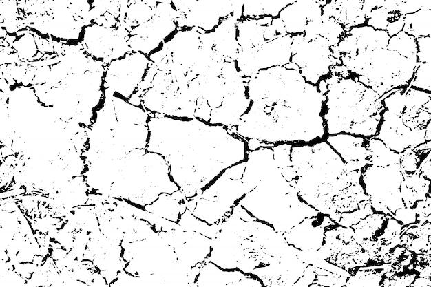 荒い表面、乾燥した土壌、割れた地面の苦しめられたオーバーレイテクスチャ。グランジ背景。