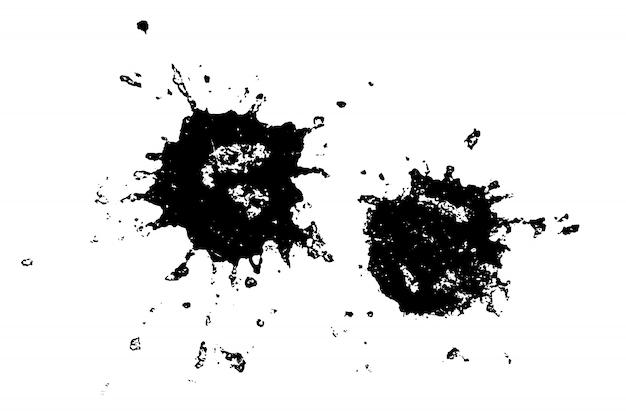 抽象的な現実的な水彩画のしみ。水しぶきを持つ芸術的なデザイン要素。