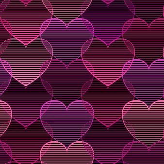 心とシームレスなパターン