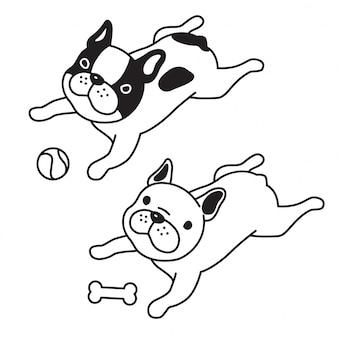 犬フレンチブルドッグ子犬骨ボール