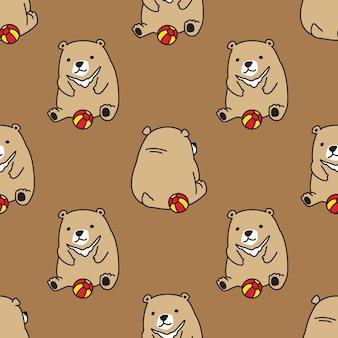 Медведь бесшовные модели
