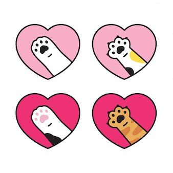 猫足子猫足跡心バレンタイン