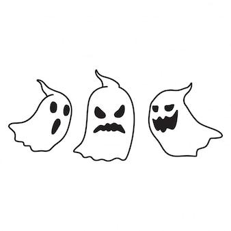 幽霊不気味なハロウィーン漫画