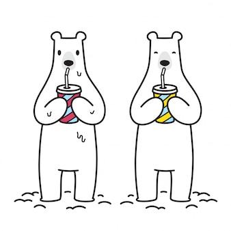 ベアベクトル北極熊アイコン