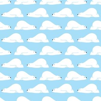 眠っている極地のシームレスなパターンを負担します。