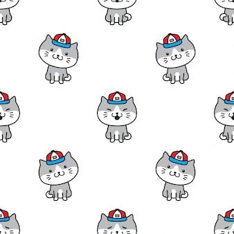 猫子猫のシームレスパターン
