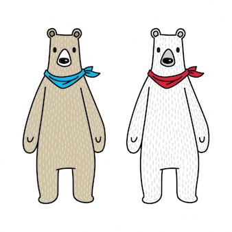 Медведь полярный персонаж иллюстрации шаржа