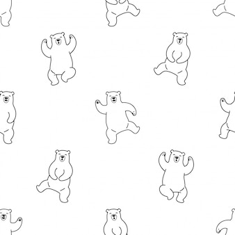 Медведь полярный бесшовные модели танцы