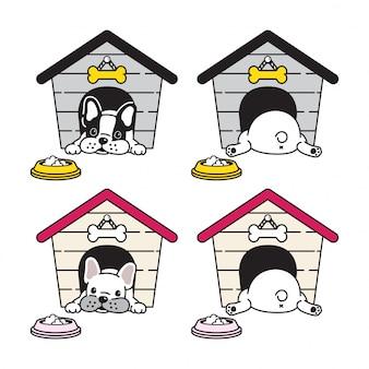 犬のフレンチブルドッグの家
