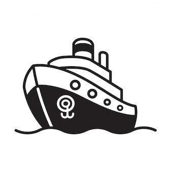 Значок лодки