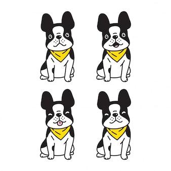 Собака французский бульдог мультипликационный персонаж