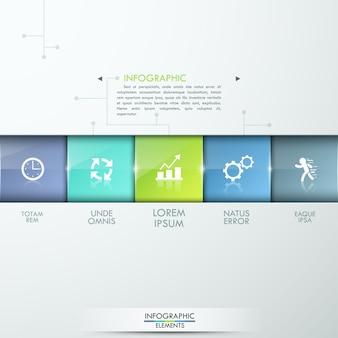 現代のインフォグラフィックプロセステンプレート