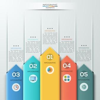 現代の紙の矢印スタイルのインフォグラフィックオプションのバナー