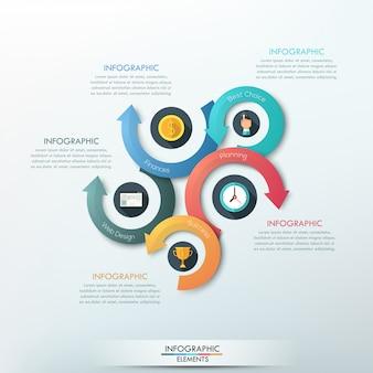 モダンなインフォグラフィックオプションのバナー