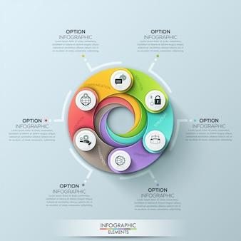 Современный круг бизнес шаблон