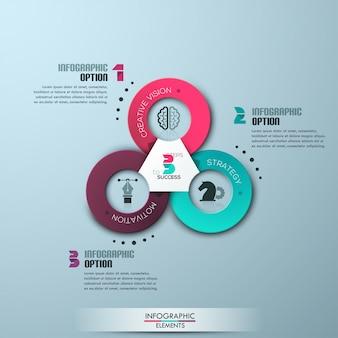 Современный бизнес кружок оригами стиль параметры баннер