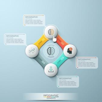 Инфографика четыре варианта цикла. векторного