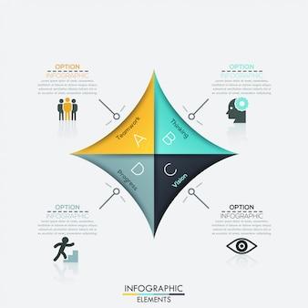Современная стрелка бизнес шаблон.