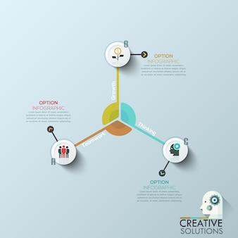 Современный бизнес кружок оригами стиль параметры баннер.