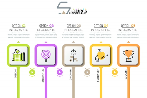 Инфографики дизайн макета