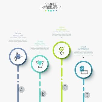 Минималистичный инфографики шаблон