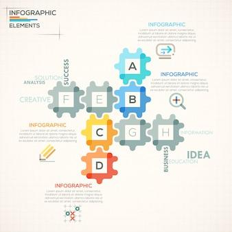 Современные инфографические варианты баннера