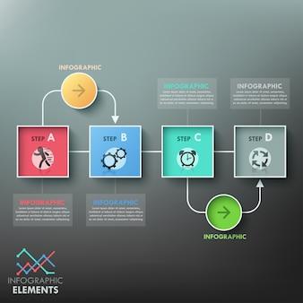 Шаблон диаграммы современной инфографики