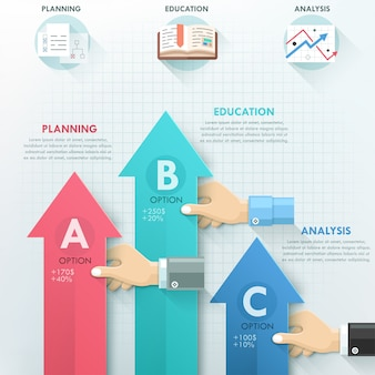 ビジネスハンドチームワークインフォグラフィックテンプレート