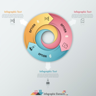 矢印の付いたモダンなインフォグラフィックオプションのバナー