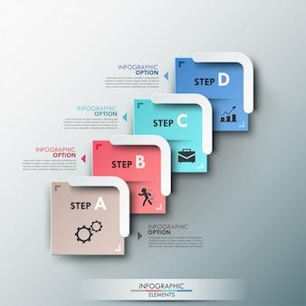Современный инфографический шаблон процесса со стрелками