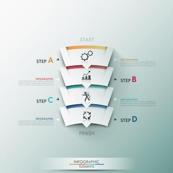 モダンなインフォグラフィックプロセステンプレート