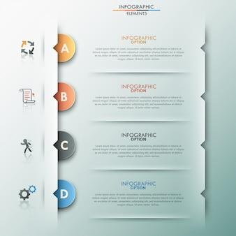 Современный инфографический вариант баннера с бумажными кружками