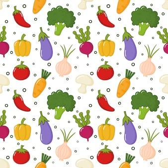 シームレスパターン野菜