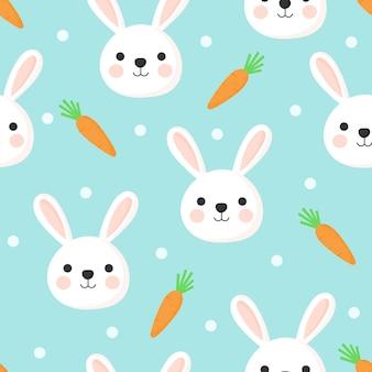 シームレスなイースターのウサギのパターン