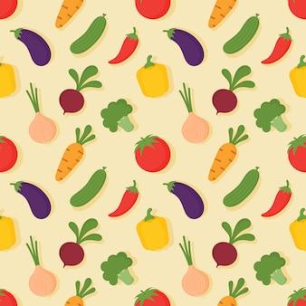 シームレスな野菜パターン