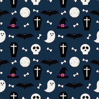 Счастливый хэллоуин бесшовный фон