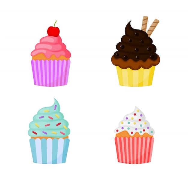 Каваи мило пастель кекс сладкие летние десерты