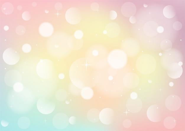 Абстрактное пастельное небо с боке. фон радуги огней.