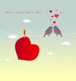 バレンタインロゴタイプバッジ/アイコン。バレンタインデーのポスター/カード/招待状/バナー。