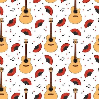 Гитара бесшовный фон