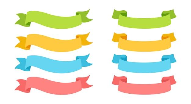 Коллекция разноцветных лент