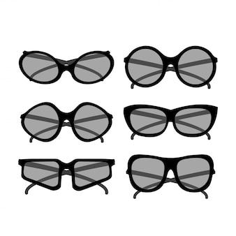ベクトルパーティーサングラス。流行に敏感な方法のためのアクセサリー光学眼鏡視力図