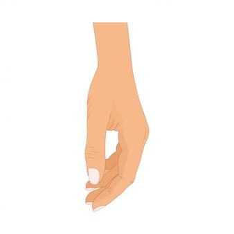 ポーズの手。漫画のスタイルで男性または女性の手